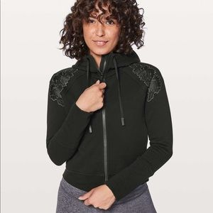Lululemon Embroidered To You Black Zip Up Hoodie